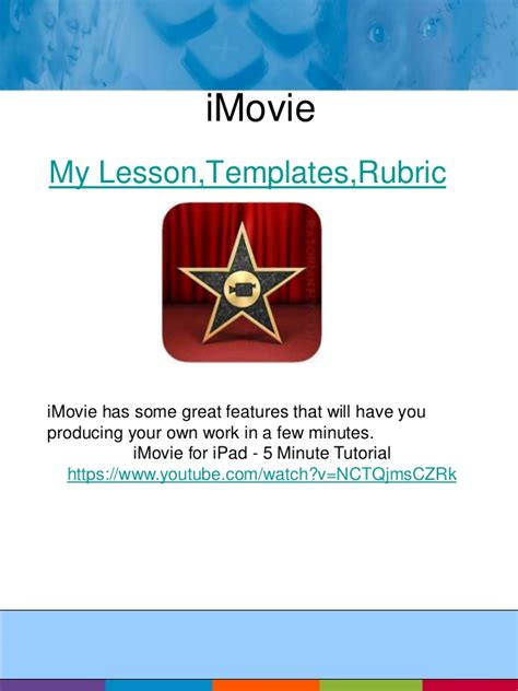 imovie tutorial pl appletude workshop session