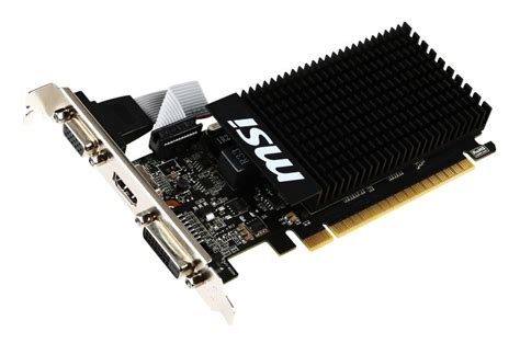 Vga Geforce 2gb Ddr3 msi geforce gt 710 2gb ddr3 lp vga dual link dvi d hdmi pci e graphics card ebuyer
