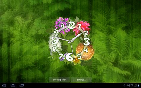 flower clock themes software flower clock live wallpaper android apps on google play