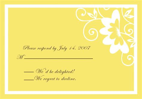 wedding invitation design yellow printable simple yellow damask wedding invitations ewi055