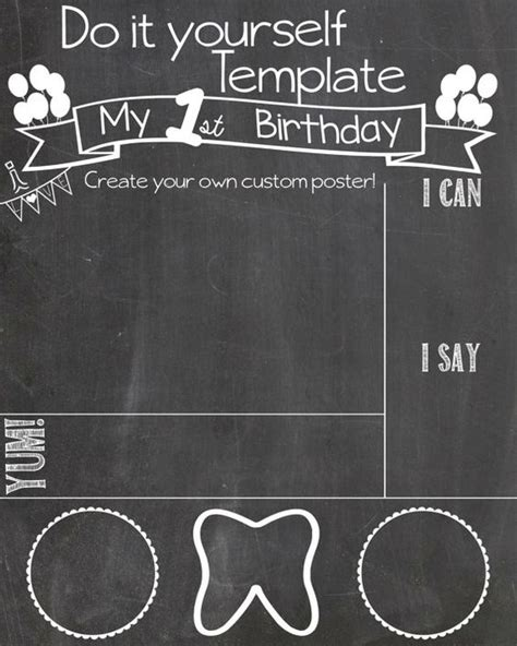 birthday chalkboard template the world s catalog of ideas