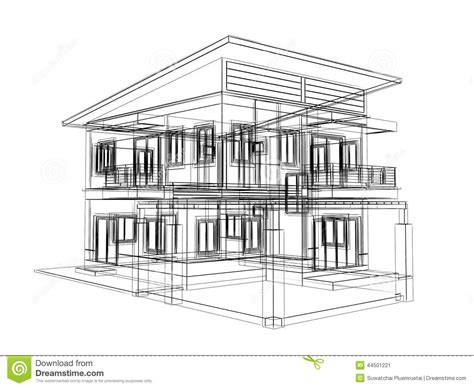 sketch of a house design sketch design of house stock illustration image 44501221