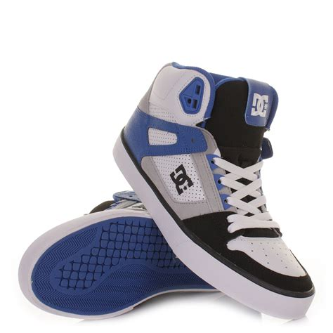 hightop shoes for mens dc shoes spartan hi black blue white high top skate