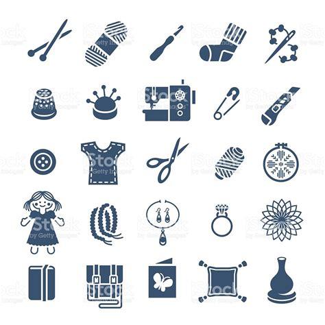 Handmade Hobby - handmade hobby activities vector flat silhouettes icons