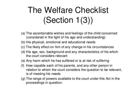 children act 1989 section 8 the children act 1989