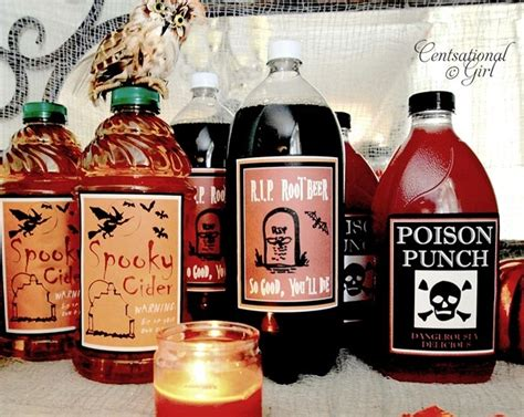 halloween drinks kid friendly kid friendly halloween drink labels centsational