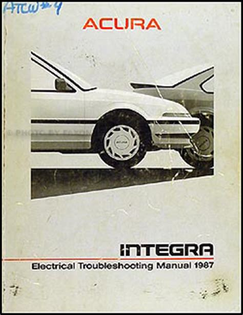 1987 acura integra repair shop manual original 1987 acura integra repair shop manual original