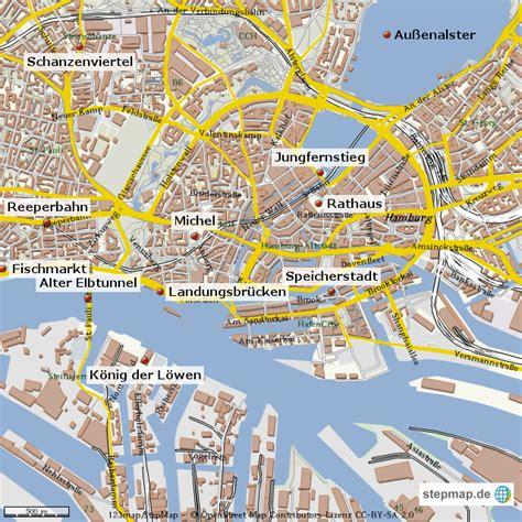 Deutsches Büro Grüne Karte Hamburg by Hamburg Sehensw 252 Rdigkeiten Ckessler Landkarte F 252 R