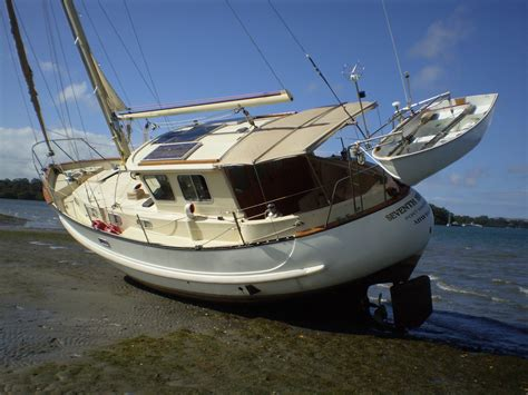 scow dinghy for sale show us your davits sailing forums page 1