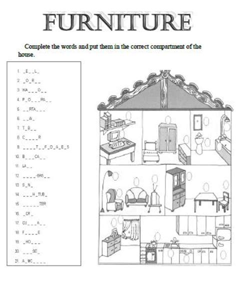 parts house printable exercises all worksheets 187 parts of the house worksheets printable