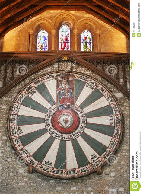 la tavola rotonda di re 249 sulla parete tempio in