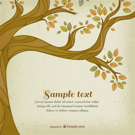 free tree templates autumn tree template vector free