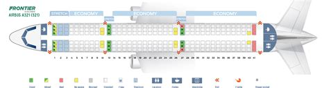 airbus a321 cabin layout seat map airbus a321 200 frontier airlines best seats in