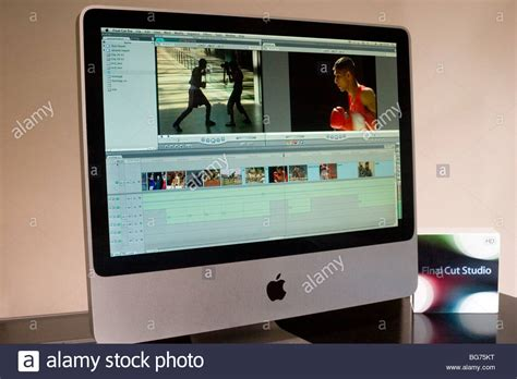final cut pro imac quot apple final cut pro 7 quot video editing software displayed