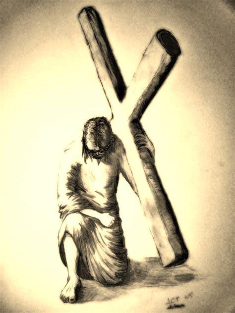 imagenes a lapiz de jesus en la cruz cristo se levanta gloriam tuam