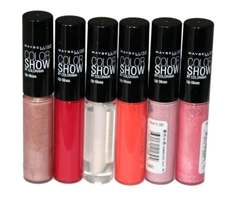 Maybelline Lip Powder 6 x maybelline color show lip gloss rrp 54 6 shades wholesale cosmetics box wholesale