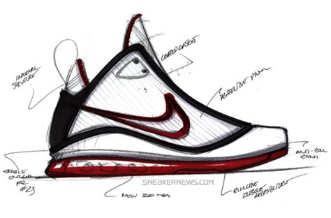 drawings of basketball shoes nike air max lebron vii design process with jason petrie