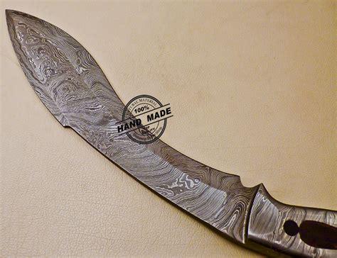 Damascus Kitchen Knives For Sale by Full Tang Damascus Kukuri Knife Custom Handmade Damascus Steel