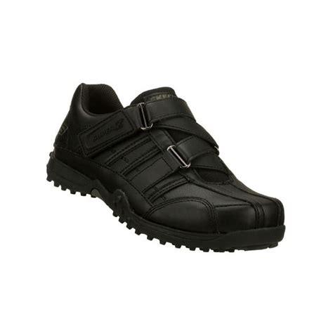 skechers school shoes skechers sk91664 velcro school shoes kid s black boys
