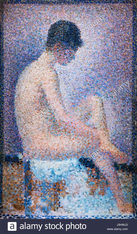 seated model side view 1887 georges seurat oil pointillism stock photos pointillism stock images alamy