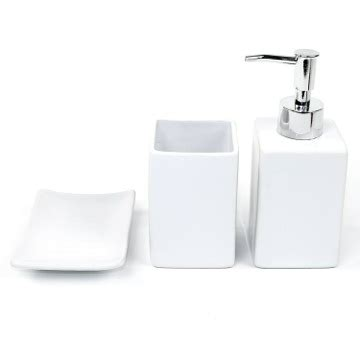 white bathroom accessories set gedy pa1181 02 by nameek s papiro wooden 6 white