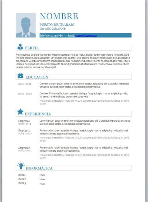 Plantilla De Curriculum Vitae Para Rellenar Word 2003 Foto Curriculum 8 Trabajemos
