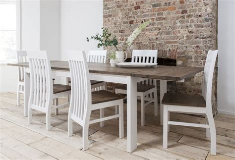 White Extending Dining Table And Chairs Dining Table And Chairs Dining Set Pine White With Extending Table Hever Ebay