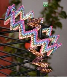 zig zag daisy chain pattern bead vine on pinterest vines beaded jewelry patterns