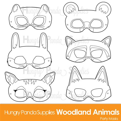 woodland animals an colouring book for dreaming and relaxing books woodland forest animals coloring masks woodland animal mask