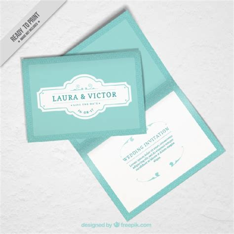 Wedding Invitation Mockup Free by Mockup Of Wedding Invitation In Vintage Design Vector