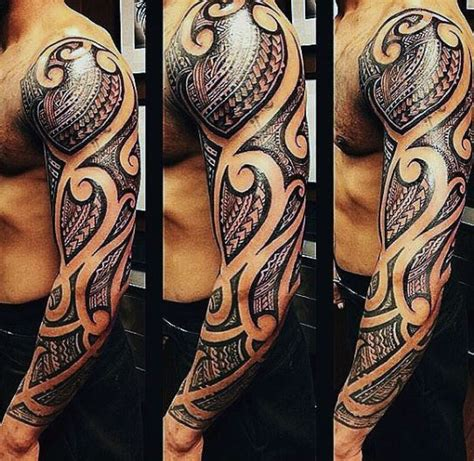 tribal tattoo right arm 75 tribal arm tattoos for men interwoven line design ideas