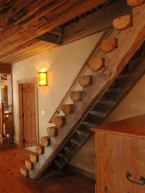 Rustic Mountain Cabin Cottage Plans by Cabin Loft Stairs Home Design Ideas Pictures Remodel And