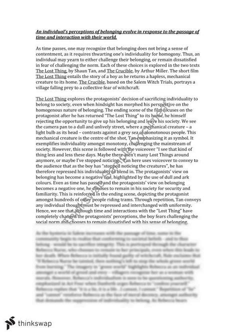 Belonging Essay Introduction by Belonging Perspective Essay