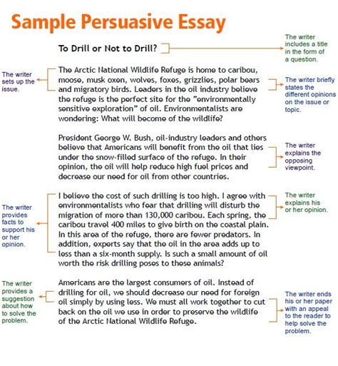 Exles Of Informative Essays by Persuasive Essay Writing Prompts And Template For Free