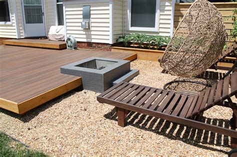 backyard platform deck modern platform deck and outdoor space
