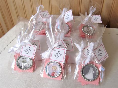 Handmade Bridal Shower Gifts - bridal shower favor magnets by leahrhood on etsy