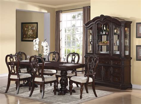 Dining Living Room Furniture Dining Room Formal Sets With China Cabinet Furniture White Wall Igf Usa