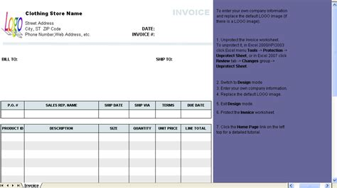 store template invoice exle invoiceg clothing store pics photos