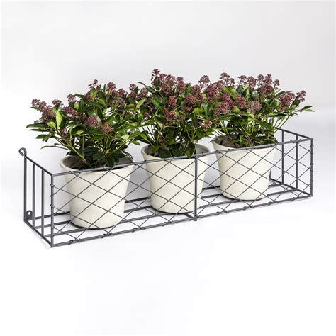 Metal Window Planter by Window Boxes Metal Window Box Displays