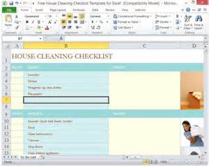 Household Roster Template by Free House Cleaning Checklist Template For Excel