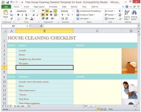 free house cleaning templates search results for checklist for housekeeping calendar
