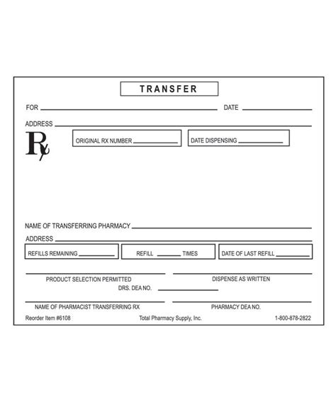 blank prescription form template images templates design
