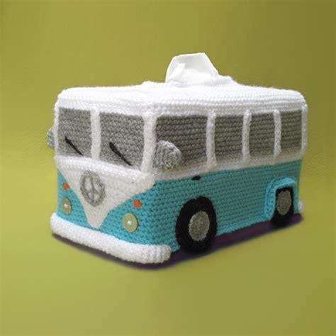 pattern crochet tissue box cover tissue box cover vw inspired bus crochet pattern