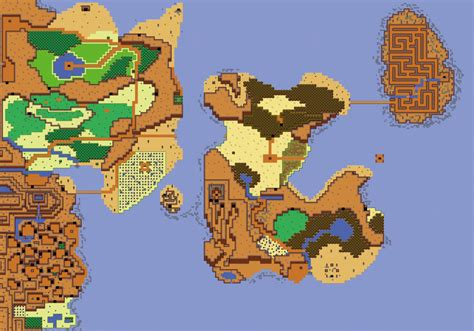 legend of zelda world map zelda 2 world map remake by thornblackstar on deviantart