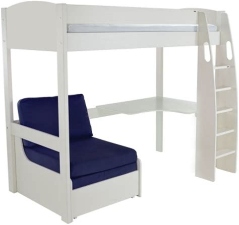 White High Sleeper With Desk by Buy Stompa White High Sleeper Frame Including Desk And