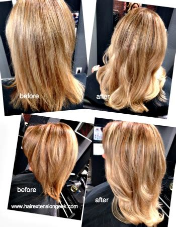 klix extensions short hair sombre hair extensions before and after klix extensions