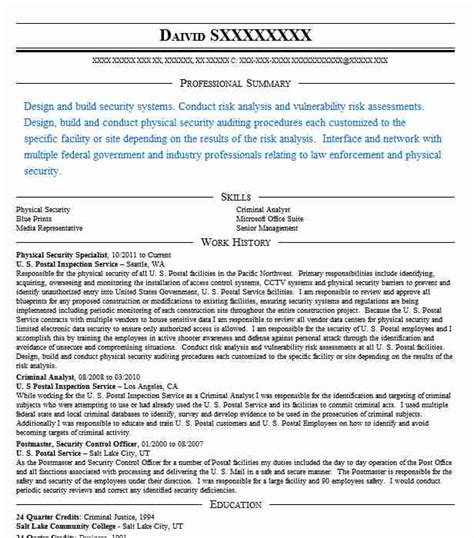 security officer resume objective security guard resume objective