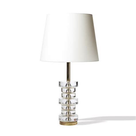 Crystal Lamp by Gallery Bac Table Lamp With Stacked Crystal Disks On