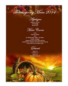 thanksgiving template word thanksgiving menu template word images