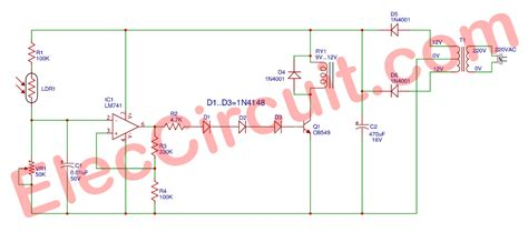 Low Voltage Led Lights Automatic Op Amp Night Light Circuit Using Ic 741